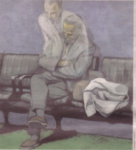 Contornos (069) Fernando Vicente. Hombre sentado y su espiritu
