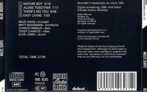 Contornos (079) Miles Davis. Blue moods [b]