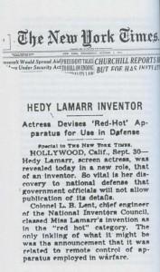 Hedy Lamarr. Noticia