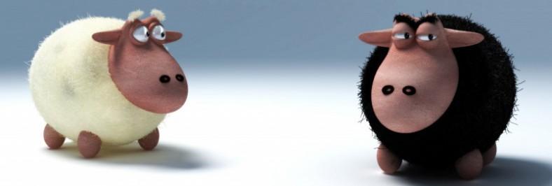 Contornos (154) Oveja blanca. Oveja negra