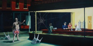 Contornos (171) Nighthawks. Banksy