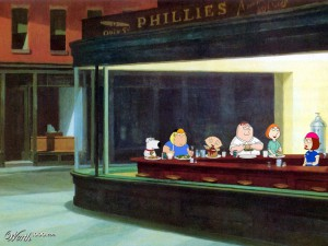 Contornos (171) Nighthawks. Family guy