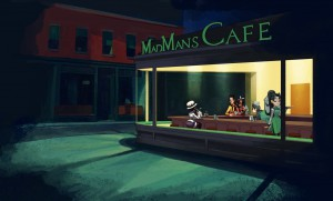 Contornos (171) Nighthawks. Mad Man