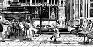Contornos (179) Miguel Navia. Gran Via. Palacio de la musica