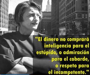 Contornos (182) Ayn Rand. Sobre el dinero