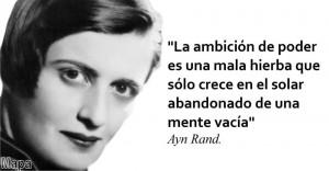 Contornos (182) Ayn Rand. Sobre la ambicion de poder