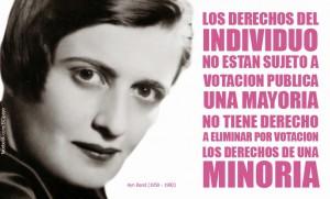Contornos (182) Ayn Rand. Sobre los derechos de la minoria