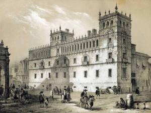 Noticia ( ) Palacio de Monterrey. Litografia de Michel-Charles Fichot. 1844