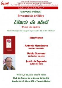 Contornos (188) Diario de abril. Presentacion
